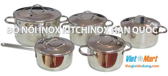 Bộ nồi bếp từ inox Kitchinox Hàn Quốc