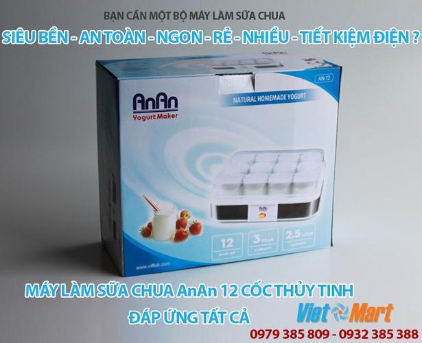 Máy làm sữa chua Anan gồm 12 cốc thủy tinh
