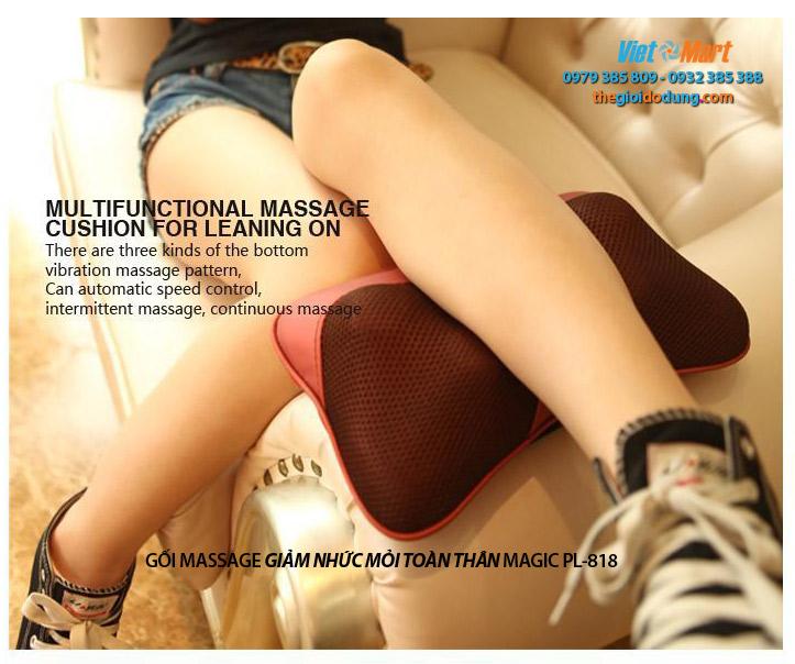 Gối massage dùng để giảm nhức mỏi Bắp chân
