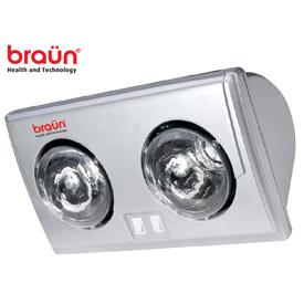 Đèn sưởi nhà tắm Braun 2 bóng avata