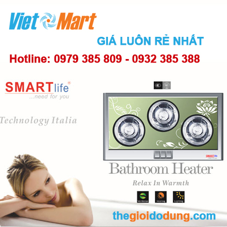Đèn sưởi nhà tắm Smartlife 3 bóng giá rẻ nhất