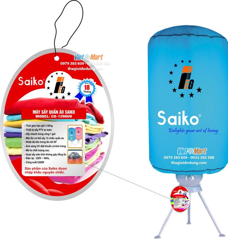 Tú sấy quần áo Sako CD1200UV và CD 900UV