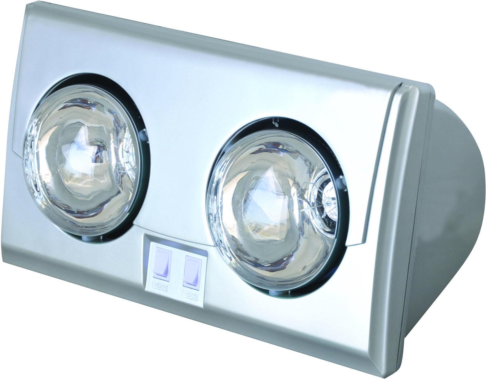 Đèn sưởi nhà tắm 2 bóng Kottman màu bạc tráng kinh cương