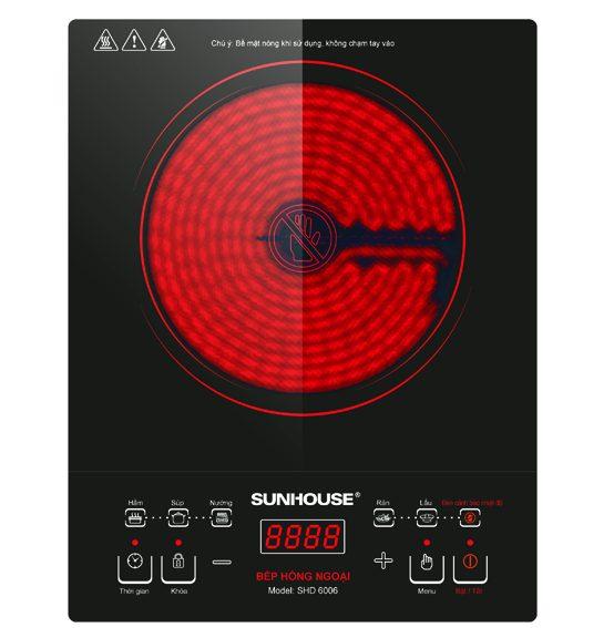 Bếp hồng ngoại cảm ứng Sunhouse SHD-6006