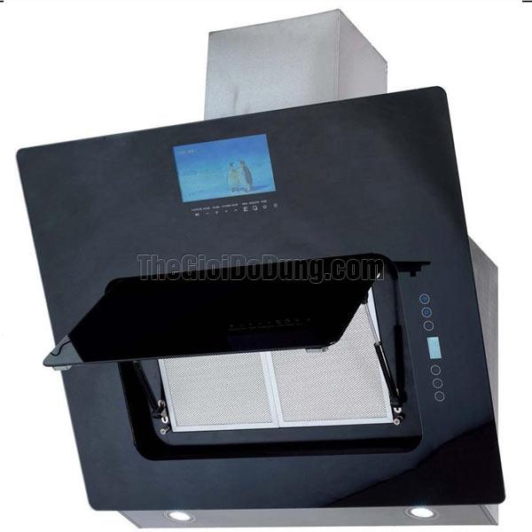 Máy hút mùi KUCY KH-9368 kính vát cao cấp thông minh