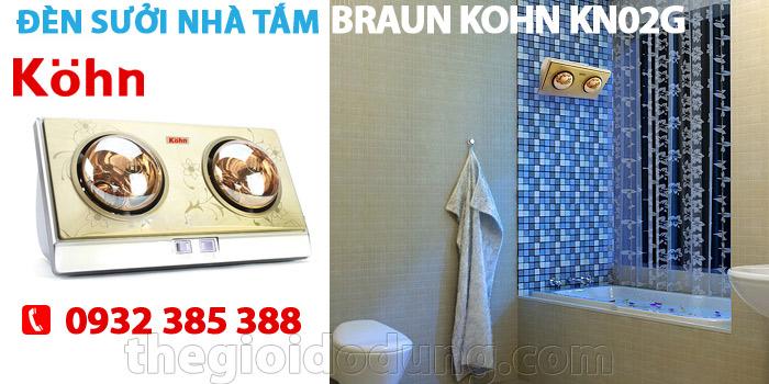 Đèn sưởi nhà tắm Braun Kohn KN02
