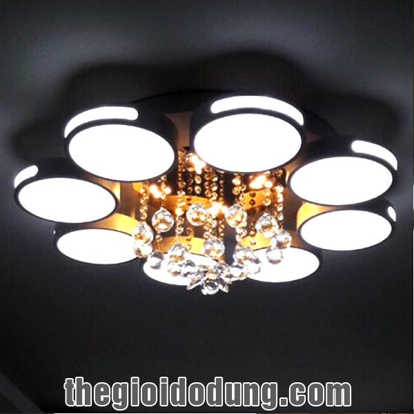 Đèn LED ốp trần trang trí A4 có 8 vòng tròn