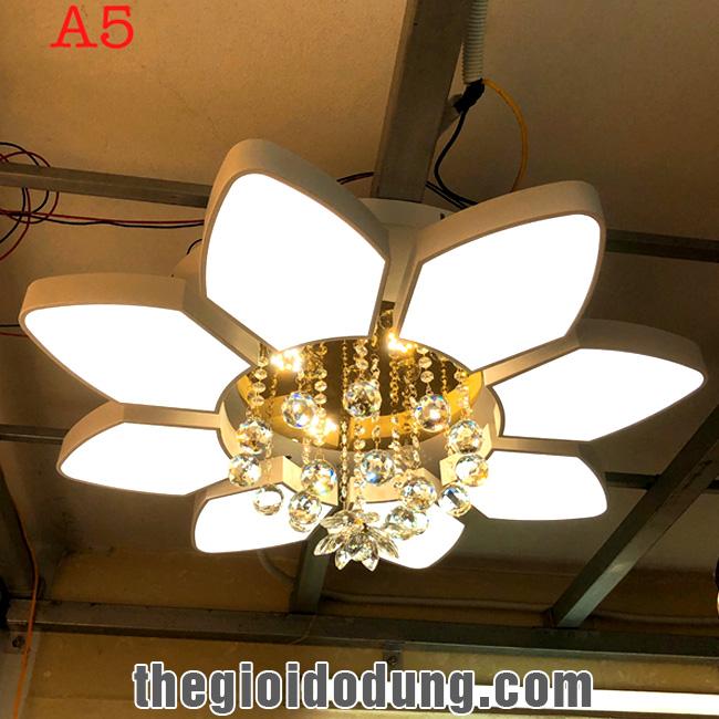 Đèn LED ốp trần trang trí A5 8 cánh