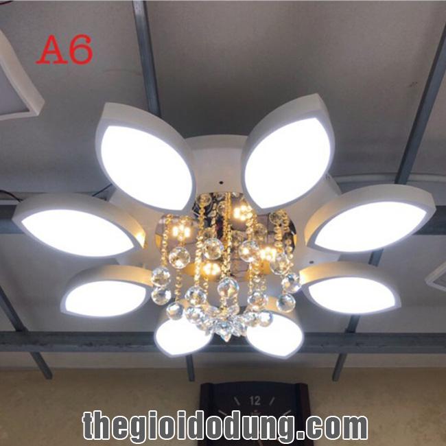 Đèn LED ốp trần trang trí A6 có 8 lá