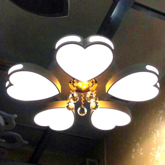 Đèn LED ốp trần trang trí B3 5 trái tim