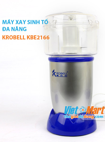 Máy xay sinh tố Krobell KBE2166 với cối xay thịt, rau, củ tiện lợi