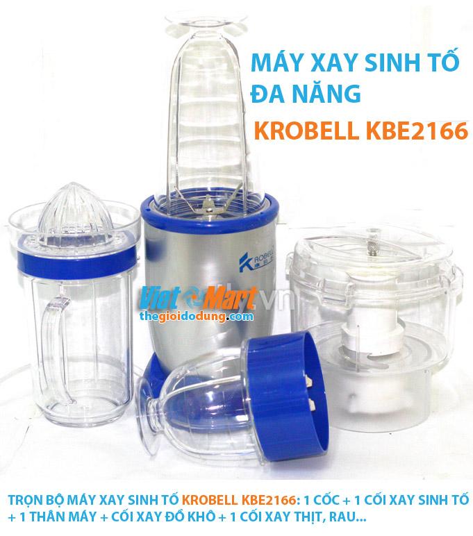Máy xay sinh tố Krobell KBE-2166 đa năng, trọn bộ