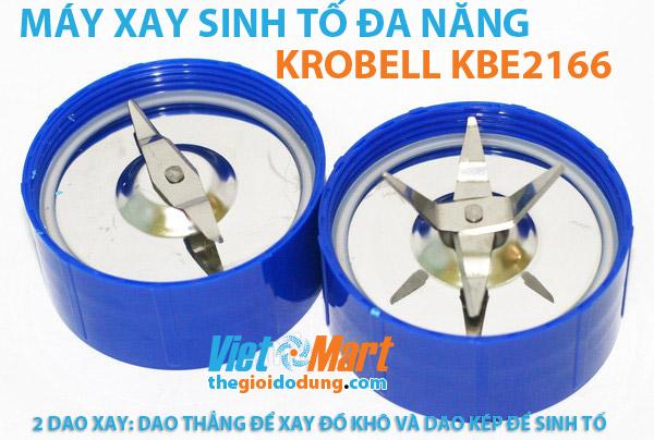Máy xay sinh tố Krobell KBE-2166 lưỡi dao xay