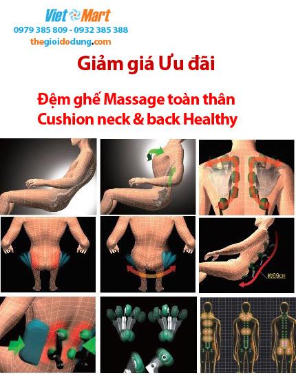 Đệm ghế massage Cổ và Thân sau Neck Back