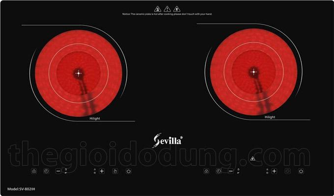 Bếp đôi hồng ngoại Sevilla SV-802H