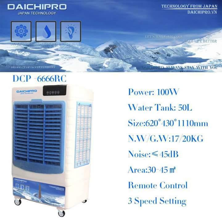 Máy làm mát giá tốt Daichipro DCP-6666RC